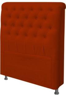 Cabeceira Para Cama Box Solteiro 100 Cm Paris Suede Vermelho - Js Móveis