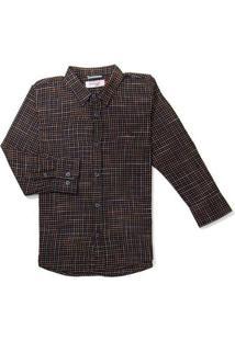 Camisa Mini Pf Ft Xadrez Snipe Reserva Mini Preto