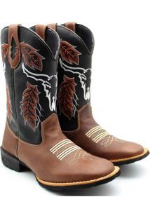 Bota Country Sw Shoes Montaria Café - Kanui