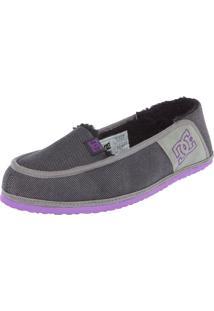 Mocassim Dc Shoes Villain Slipper Cinza