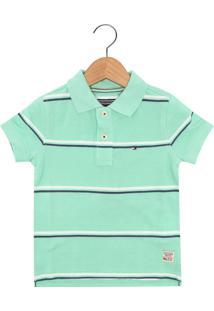 0749d7433c Camisa Polo Tommy Hilfiger Kids Menino Verde