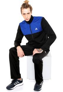 Agasalho Adidas Performance Back 2 Basics Preto/Azul