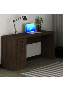 Mesa Para Computador 3 Gavetas Rústico Me4102 - Tecno Mobili