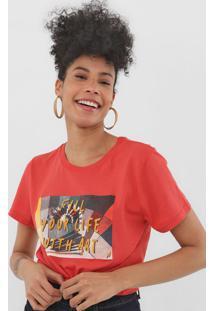 Camiseta Cantão Fill Your Life Vermelha - Kanui