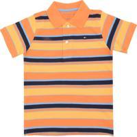 c68a2acd81 Camisa Polo Tommy Hilfiger Kids Menino Laranja