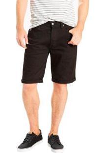 Bermuda Jeans Levis Original Masculina - Masculino-Preto