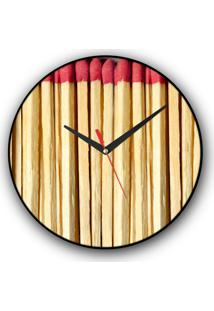 Relógio De Parede Colours Creative Photo Decor Decorativo, Criativo E Diferente - Caixa De Fósforos