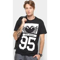 ddfc378aa1 Camiseta Cavalera Manga Curta Estampada Masculina - Masculino-Preto