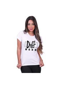 Tshirt Basica Algodão Camisa Simpsons Duff Beer Feminina