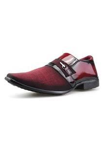 Sapato Social Neway Vermelho