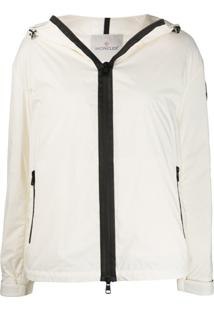 Moncler Hooded Puffer Jacket - Branco