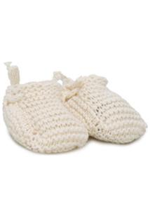 Message In The Bottle Gaby Knitted Slippers - Neutro