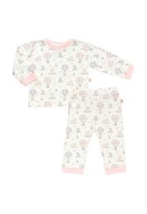 Pijama Longo Estampado Plush - Anjos Baby Rosa Bebe