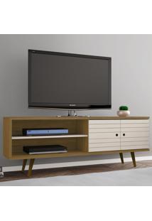 Rack Para Tv Até 60 Polegadas 2 Portas Onix Cinamomo/Off White - Móveis Bechara