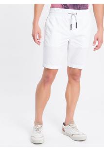 Bermuda Color C/ Elástico E Silk - Branco - 36