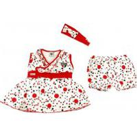 Do Re Mi Bebe. Vestido Infantil Com Shorts E Tiara ... ce9f6a0f43534