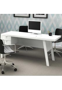 Mesa Para Escritório 2 Gavetas Me4122 Branco/Branco - Tecno Mobili