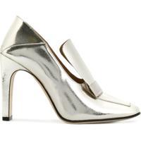 10f58213b0 Farfetch. Sergio Rossi Sapato Metalizado ...
