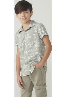 Camisa Manga Curta Infantil Menino Em Tecido De Viscose