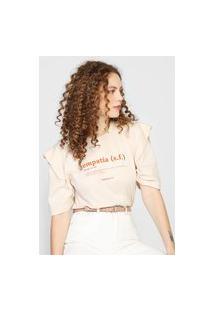 Camiseta Colcci Empatia Off-White