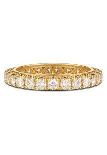 Aliança Absoluta Ouro Amarelo E 175 Pontos De Diamantes