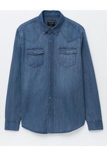 Camisa Em Jeans Com Bolsos