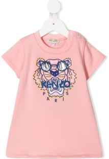 Kenzo Kids Vestido 'Wax Tiger' - Rosa
