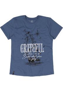 T-Shirt Nogah Grateful Ship Azul - Azul - Feminino - Algodã£O - Dafiti