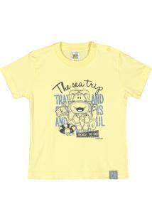Camiseta Pulla Bulla Meia Malha Amarelo