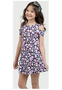 Vestido Infantil Open Shoulder Hello Kitty Sanrio