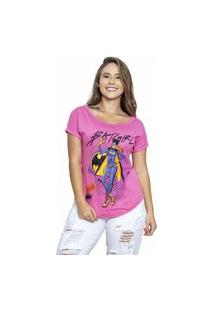 Camiseta Sideway Batman Batgirl - Rosa