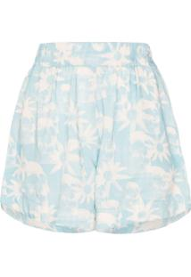 Double Rainbouu Short Gogo Com Estampa Floral - Azul