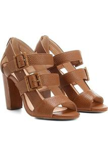 df71066062 Sandália Couro Shoestock Salto Grosso Fivelas Feminina - Feminino