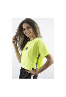 Camiseta Anjuss Cropped Amarelo