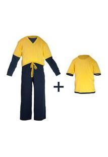 Pijama Gumii Pijama Klaus Gumii (Três Peças) Amarelo