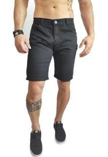 Bermuda Jeans Masculina Preta Zor - Masculino