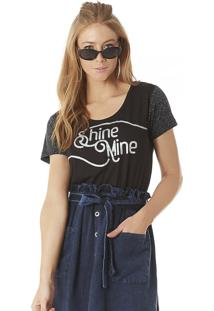 T-Shirt Serinah Brand Shine Mine Preta