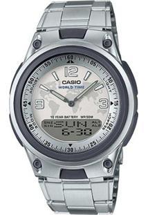Relógio Masculino Casio Digital Aw-80D-7A2Vdf - Unissex-Prata
