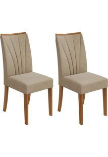 Conjunto Com 2 Cadeiras Apogeu Rovere E Creme
