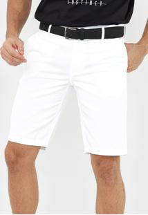 Bermuda Sarja Colcci Chino Noah Branca - Branco - Masculino - Algodã£O - Dafiti