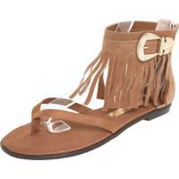 32658135d Rasteira Caramelo Franja feminina | Shoes4you