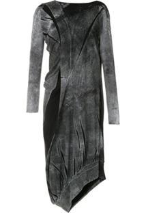 Uma | Raquel Davidowicz Vestido Budapeste Assimétrico - Cinza