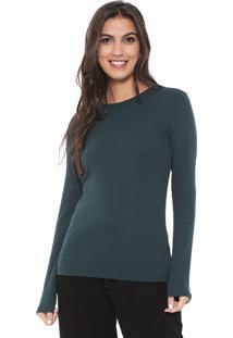 Camiseta Liz Easywear Canelada Verde