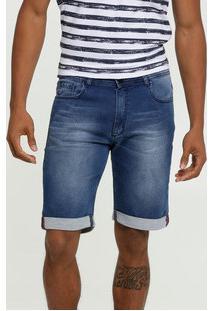 Bermuda Masculina Jeans Barra Dobrada Mr