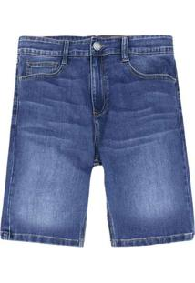 Bermuda Masculina Jeans Tradicional Azul-Claro