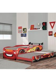 Bicama Infantil Carros Original Disney Fun Vermelha Pura Magia