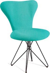Cadeira Butterfly Linho Azul Turquesa