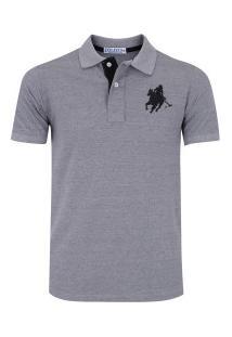 Camisa Polo Polo Us Us1 - Masculina - Cinza Preto 48741ee28c612