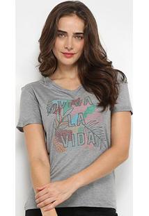 Camiseta Lez Lez Viva La Vida Feminina - Feminino-Mescla