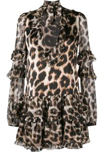 Philipp Plein Leopard Print Mini Dress - Neutro